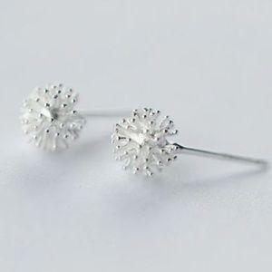 Sterling Silver Dandelion Earrings New